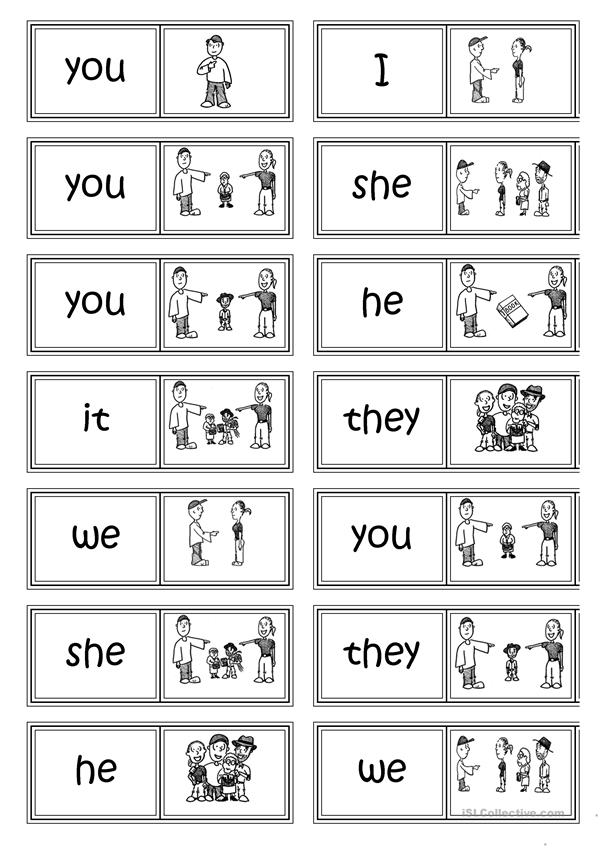 Subject pronouns DOMINO