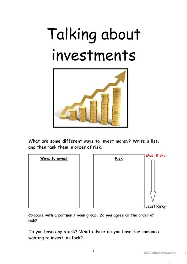 Talking about investment