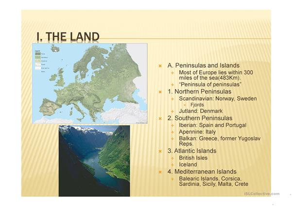 The Physical Geography of Europe, ppt