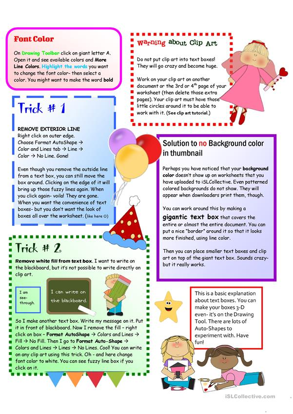 Tutorial:How to Create Fabulous Worksheets