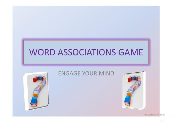 Word associations game 1