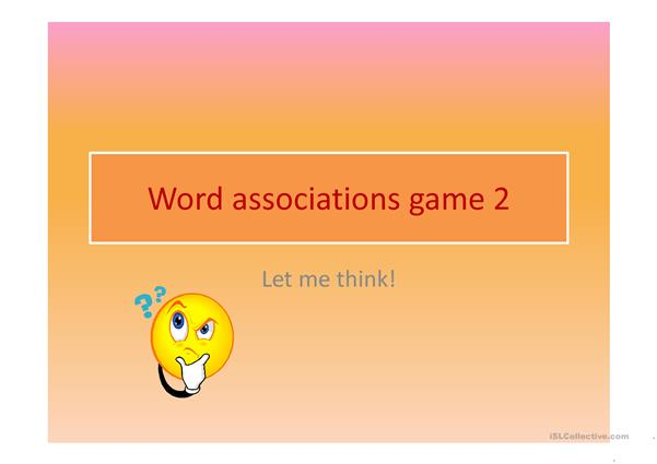 Word associations game 2