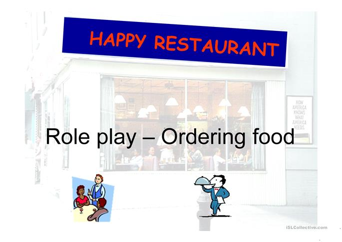 In a restaurant - ESL powerpoints