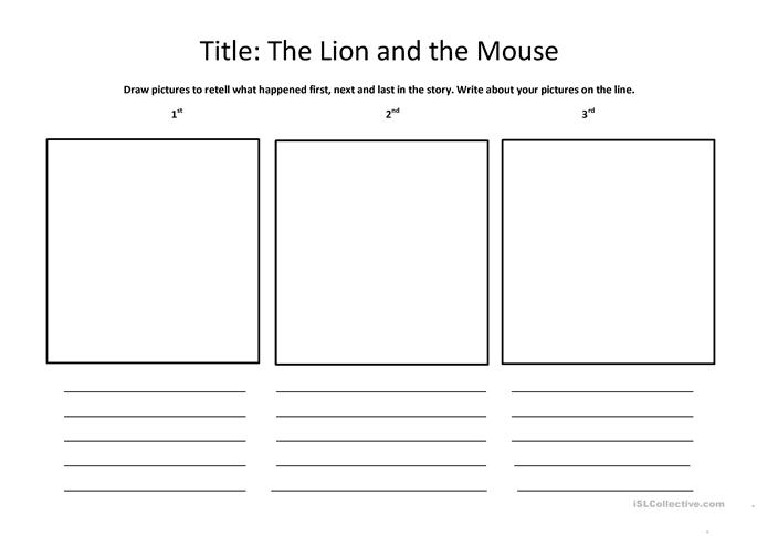 The lion and The MOUSE worksheet - Free ESL printable ...