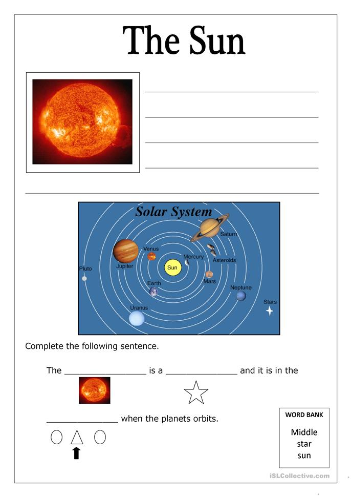 free printable solar system worksheets - photo #29
