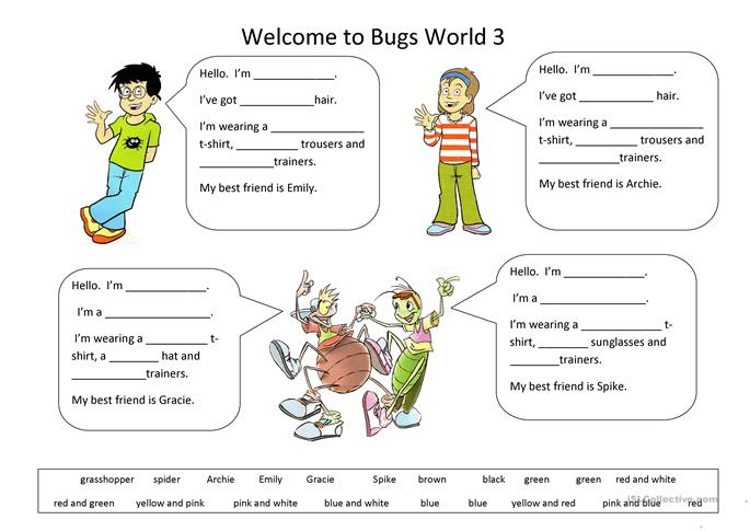 Welcome to Bugs World 3 worksheet - Free ESL printable worksheets made ...