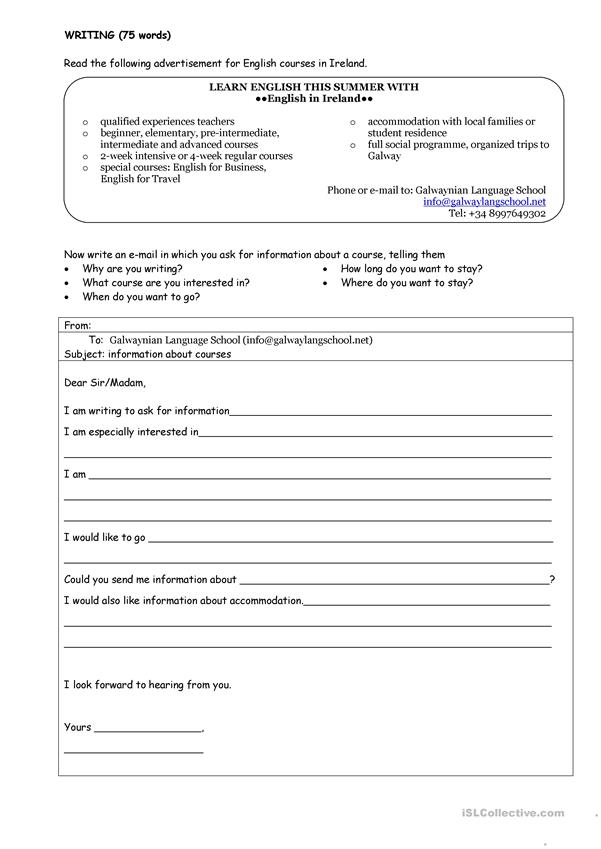 Writing an admission essay worksheets