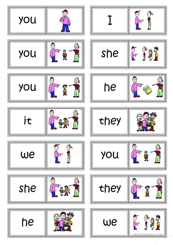 Subject Pronouns Domino English Esl Worksheets For Distance Learning And Physical Classrooms ← i, you, he/she/it, we, you, they. subject pronouns domino english esl