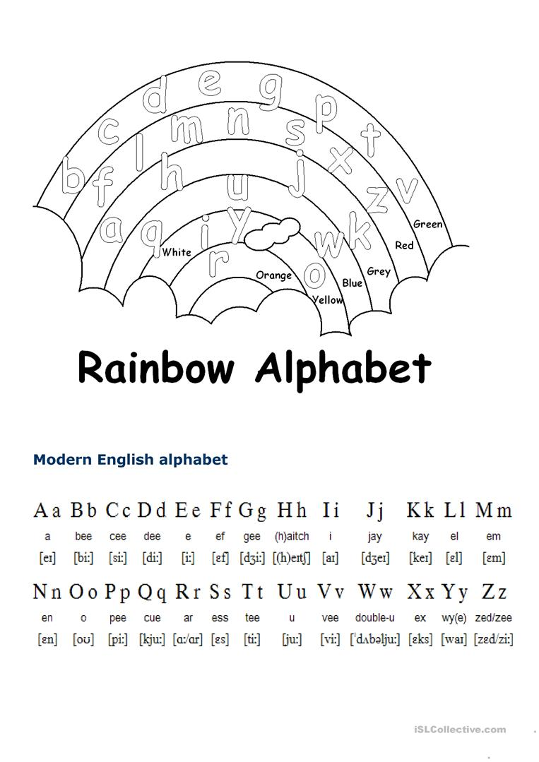 graphic relating to Alphabet Printable Worksheets identified as English alphabet - English ESL Worksheets