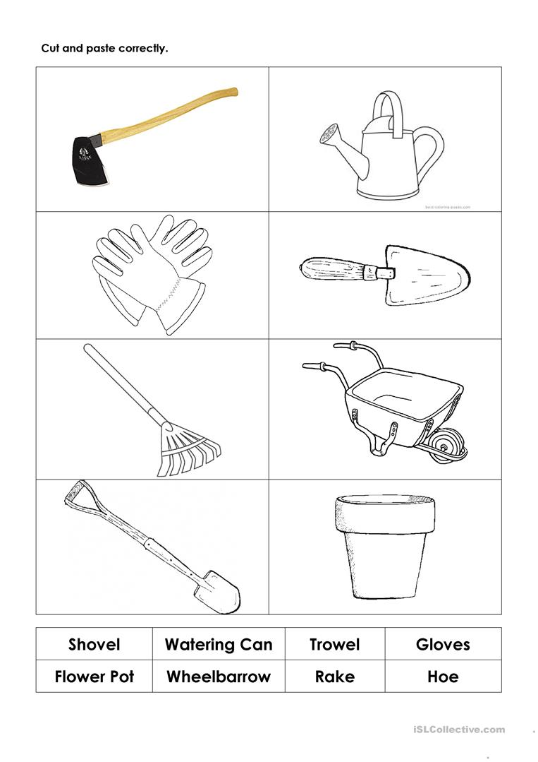 preschool worksheet for garden tools preschool best free