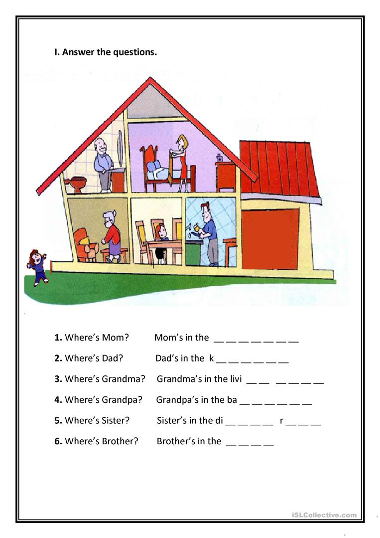House Rooms Present Simple Esl A