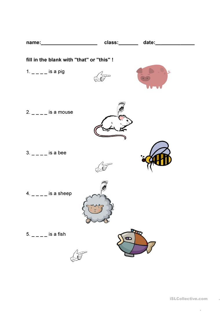 That is This is - English ESL Worksheets