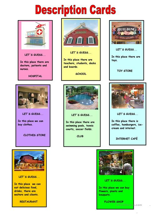 graphic relating to Guess Who Cards Printable referred to as Bet the location playing cards worksheet - Cost-free ESL printable