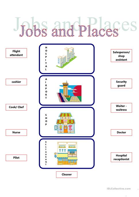 Jobs And Places Worksheet Free Esl Printable Worksheets Made By