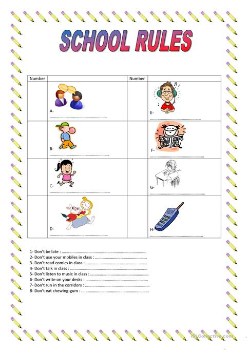 Rules and Laws worksheet | Worksheets, Students and School