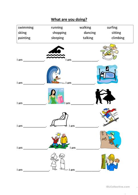 What are you doing? worksheet - Free ESL printable worksheets made ...