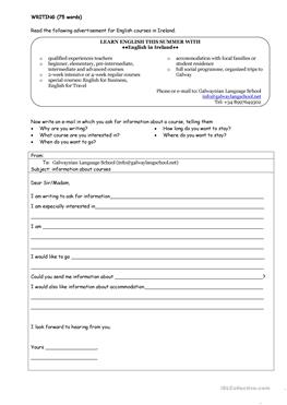16 free esl email writing worksheets asking for information email ibookread PDF