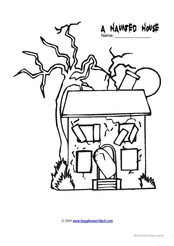 a haunted house drawing
