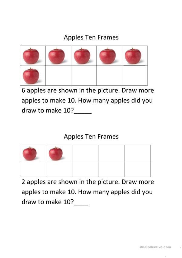 apples ten frames