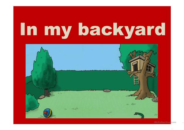 Backyard Vocabulary Presentation
