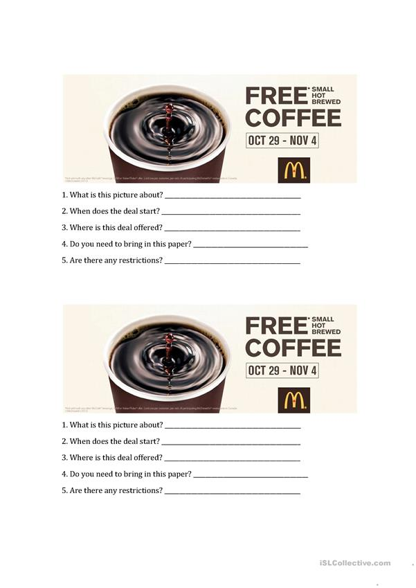 Coffee Questionaire