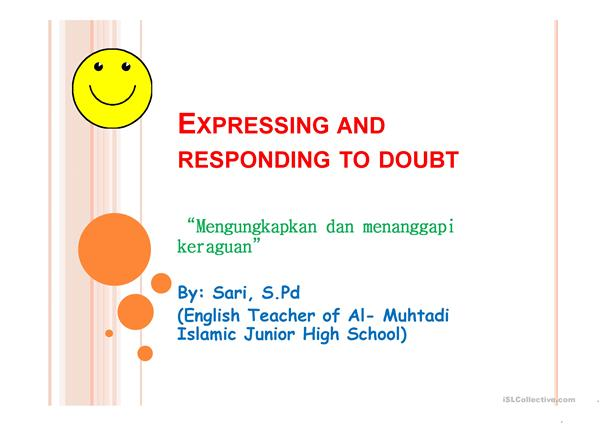 Expressing doubt