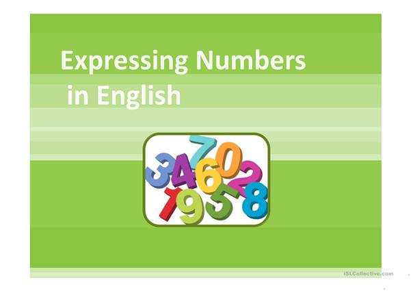 Expressing Numbers PPT