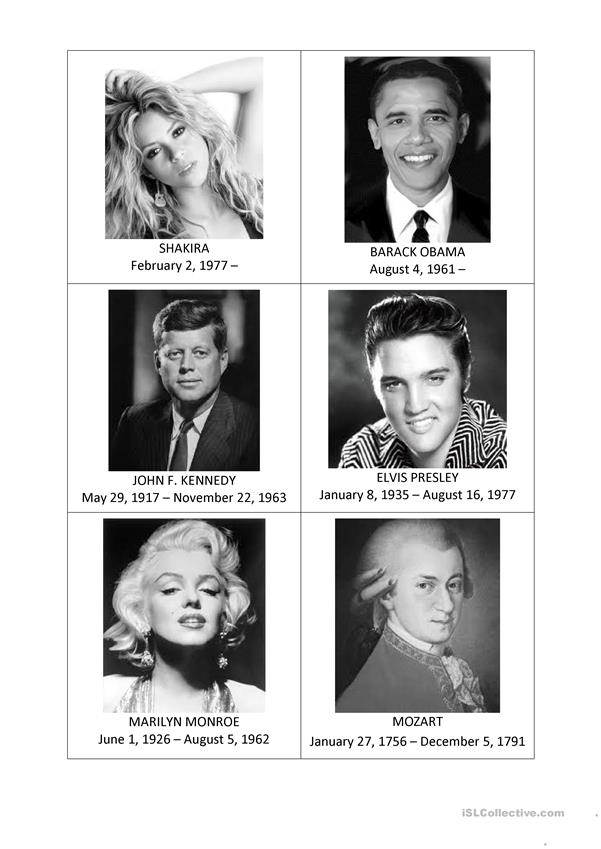 Famous People Speaking Activity Cards