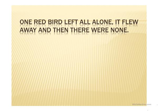 Five red birds