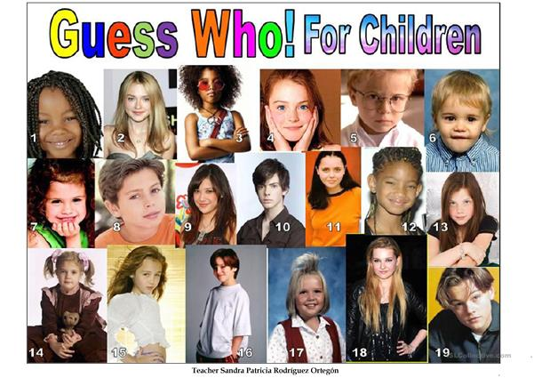GUESS WHO FOR CHILDREN
