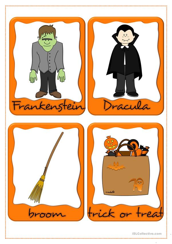 Halloween - flashcards