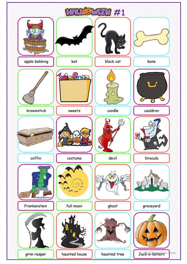 Halloween Picture Dictionary#1