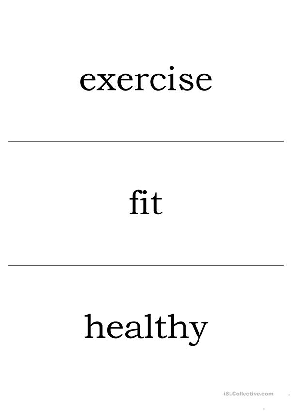 Healthy Habits Vocab Flashcards