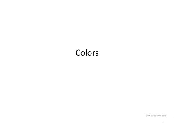 Introduction to colors powerpoint