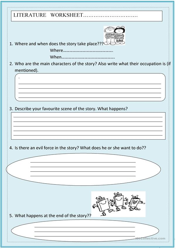Literature worksheet