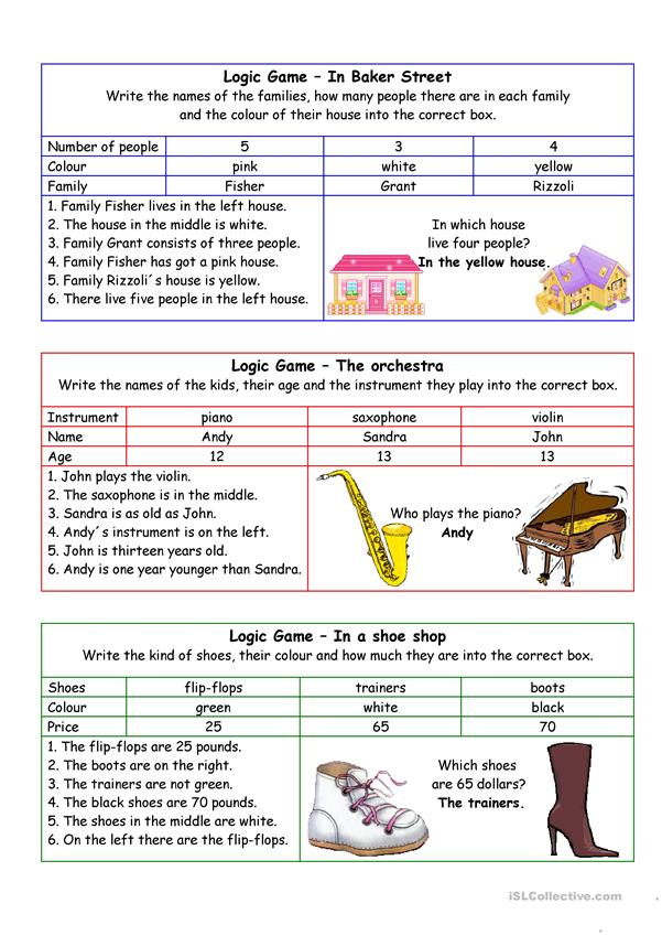Logic games for young learners-03 (+key)