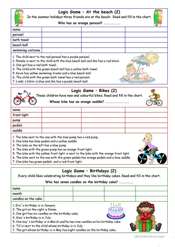 Logic games for young learners-05 (+key)