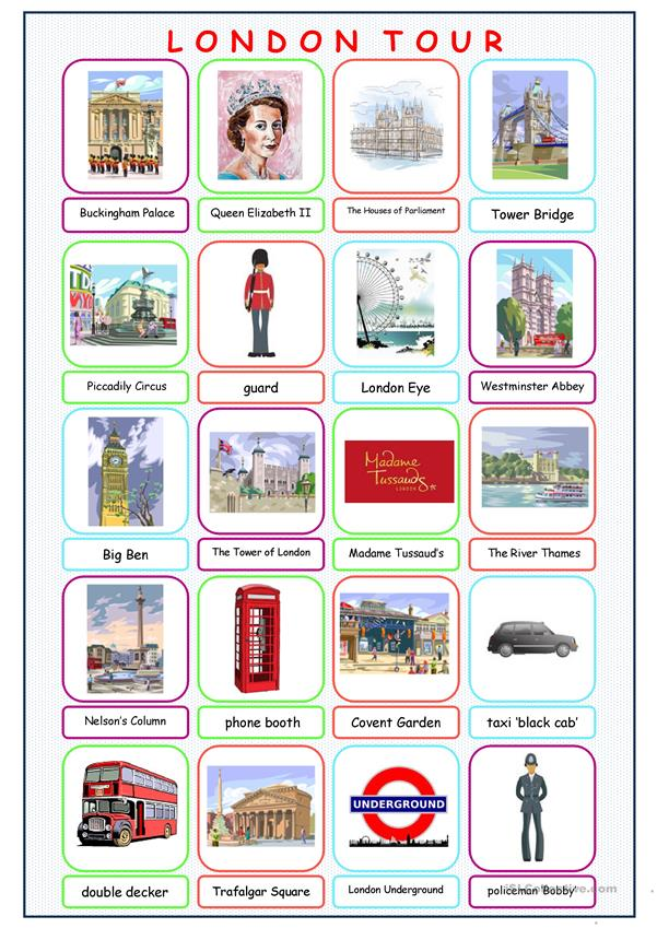 London Tour Picture Dictionary