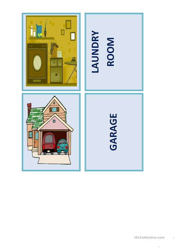 Memory Game - Parts Of The House - English ESL Worksheets For Distance  Learning And Physical Classrooms