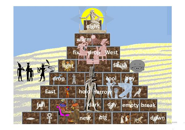 Opposites Climb the Pyramid Solo Game
