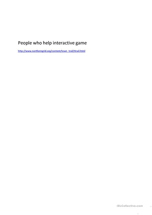 people who help game