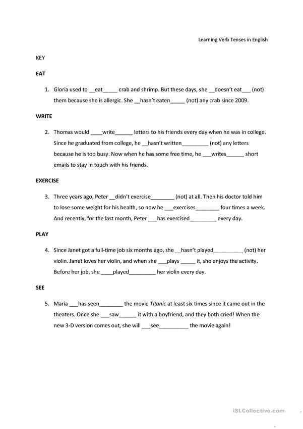 Practice switching verb tenses