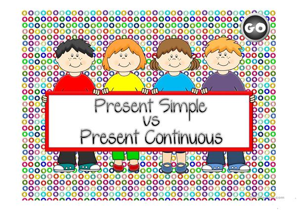 Present Simple vs Present Continuous - game