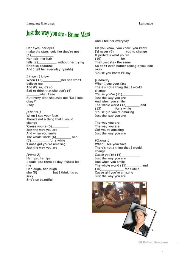 Present Tenses and Song