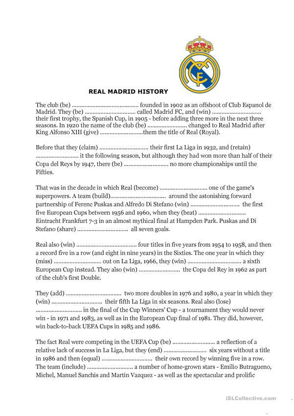 Real Madrid History (4 pages)