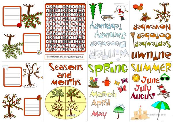 Seasons and months - minin book