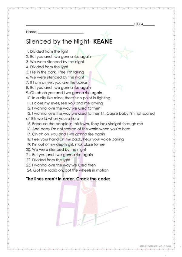 SILENCED BY THE NIGHT- KEANE