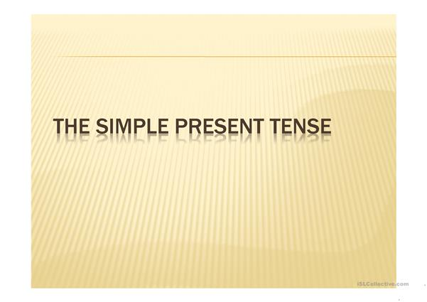 SIMPLE PRESENT RULES
