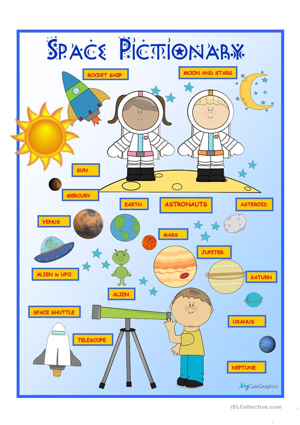 Space Pictionary Poster