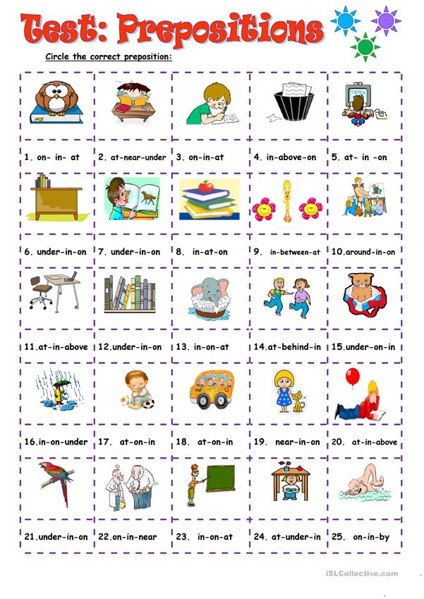 Test:Prepositions